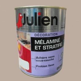 Peinture acrylique Mélaminé et Stratifié Julien Marron Glacé 0,75L Satin