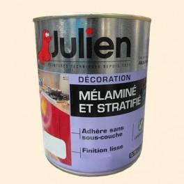 Peinture acrylique Mélaminé et Stratifié Julien Blanc cassé 0,75L Satin
