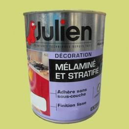 Peinture acrylique Mélaminé et Stratifié Julien Vert Pomme 0,75L Brillant