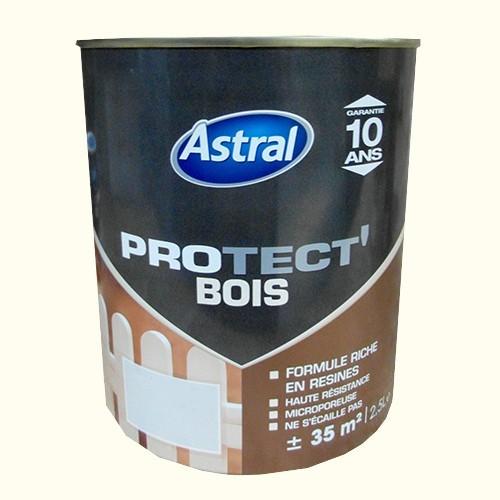Peinture astral protect 39 bois blanc cass pas cher en ligne for Peinture bois exterieur blanc