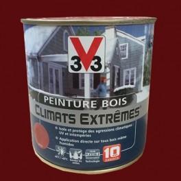 Peinture Bois V33 Climats Extrêmes Satin Rouge basque