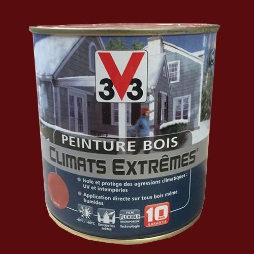 Peinture bois v33 climats extr mes satin rouge basque pas for Peinture bois interieur pas cher