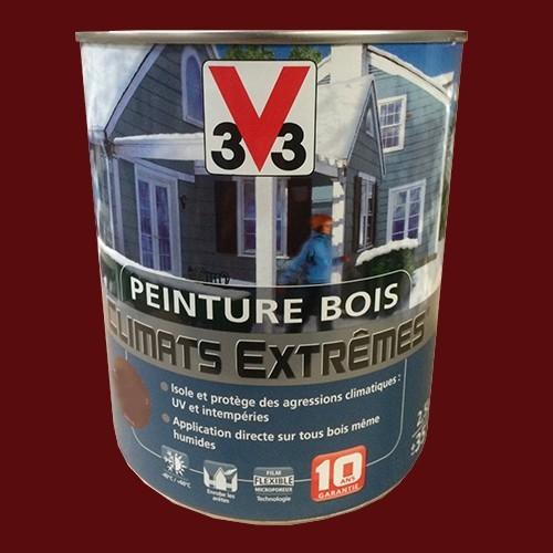 peinture bois v33 climats extr mes satin rouge basque pas cher en ligne. Black Bedroom Furniture Sets. Home Design Ideas