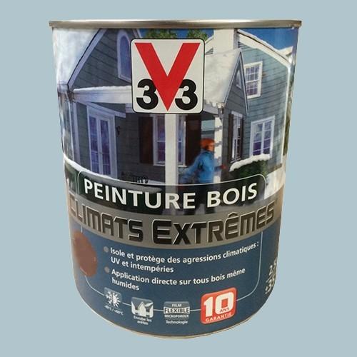 peinture bois v33 climats extr mes satin bleu gris pas. Black Bedroom Furniture Sets. Home Design Ideas