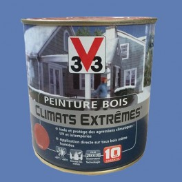 Peinture Bois V33 Climats Extrêmes Satin Bleu lavande