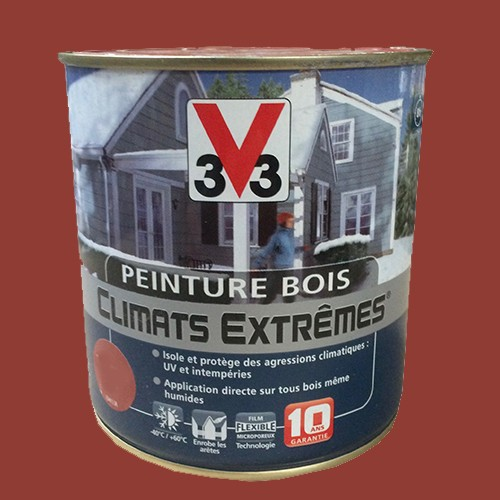peinture bois v33 climats extr mes satin terre d 39 ocre pas cher en ligne. Black Bedroom Furniture Sets. Home Design Ideas