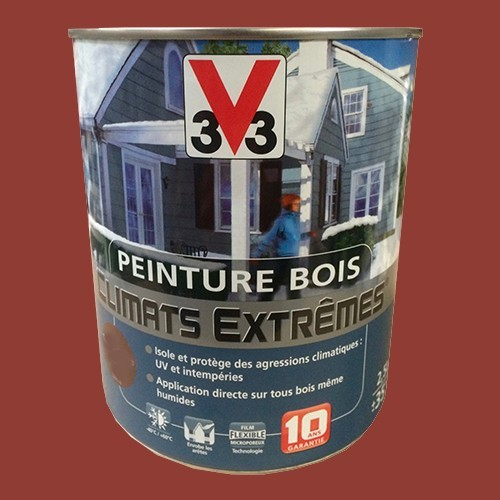 peinture bois v33 climats extr mes satin terre d 39 ocre pas. Black Bedroom Furniture Sets. Home Design Ideas