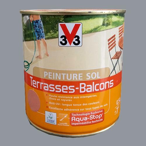 Peinture Pour Balcon Exterieur peinture v33 sol terrasses - balcons ciment pas cher en ligne