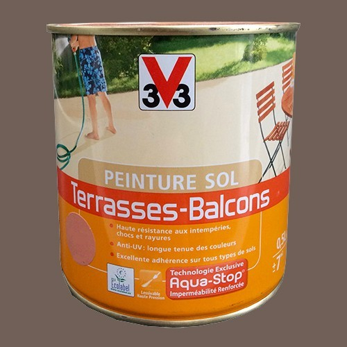 Peinture V33 Sol Terrasses - Balcons Taupe