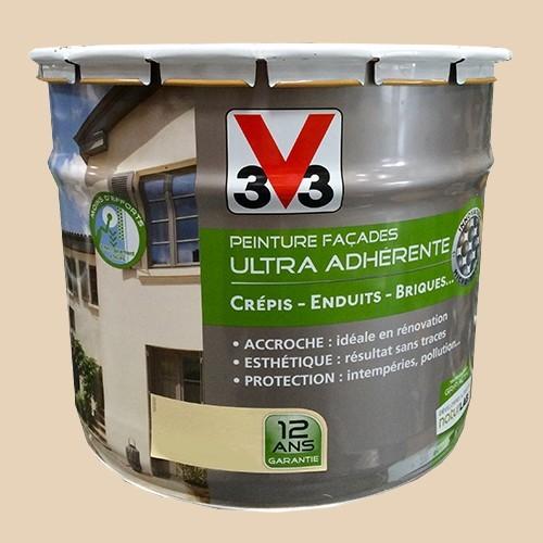 Peinture v33 fa ade ultra adh rente sable pas cher en ligne for Peinture exterieur facade