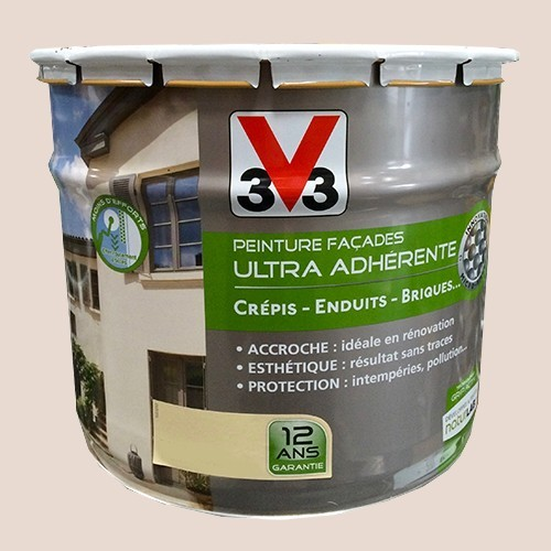Peinture v33 fa ade ultra adh rente gr s rose pas cher en for Peinture bois de rose