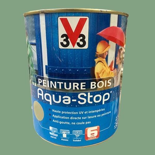 Peinture v33 bois aqua stop satin 2 5l pas cher en ligne for Peinture escalier bois v