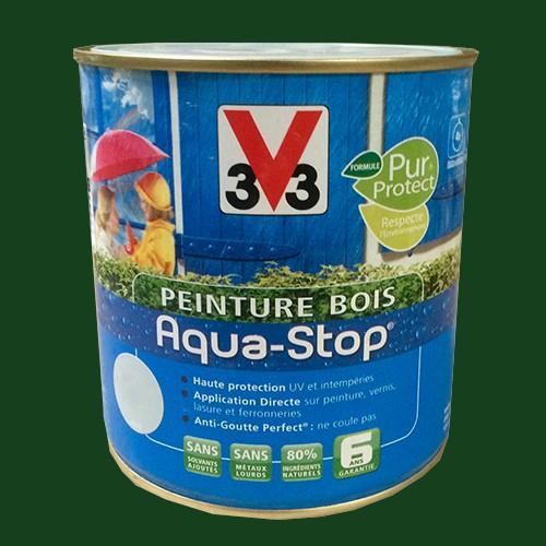 Peinture v33 bois aqua stop satin 2 5l pas cher en ligne for V33 peinture bois exterieur
