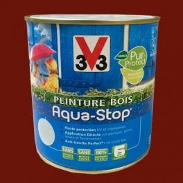 Peinture V33 Bois Aqua-Stop Rouge Pays Basque Satin
