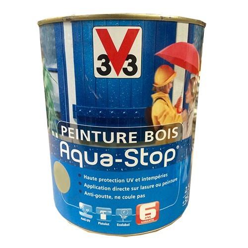 Peinture v33 bois aqua stop satin 2 5l pas cher en ligne for Peinture bois exterieur blanc