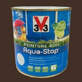 Peinture V33 Bois Aqua-Stop Brun Profond Satin