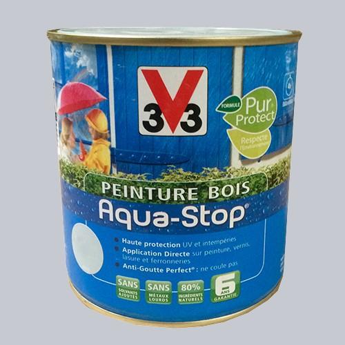 ... Peinture V33 Bois Aqua Stop Tourterelle Satin Est Une Peinture Qui  Protège Et Décore Toutes Les Boiseries Et Menuiseries Extérieures:  Portails, ...
