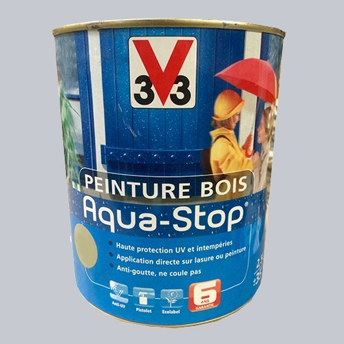 Peinture v33 bois aqua stop satin 2 5l pas cher en ligne - Peinture aquastop v33 ...