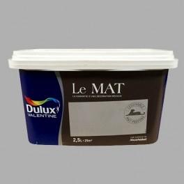 Peinture DULUX VALENTINE Le Mat Flanelle Grise 2,5L