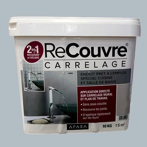 Enduit recouvre carrelage cuisine bains apara ciment 10kg for Enduit decoratif cuisine