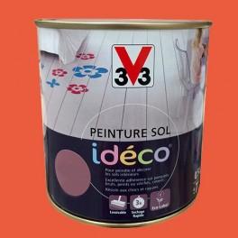 Peinture sol V33 Idéco Capucine Satin 0.5L
