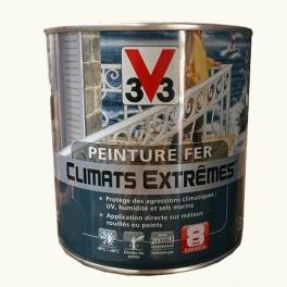 """Peinture Fer V33 """"Climats Extrêmes"""" Blanc Banquise Brillant"""