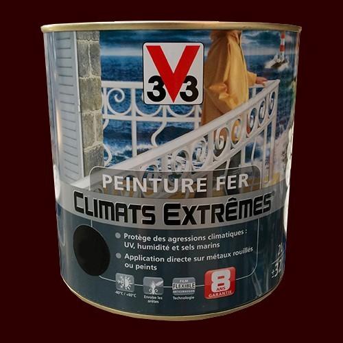peinture fer v33 climats extr mes brun normand brillant peinture destock. Black Bedroom Furniture Sets. Home Design Ideas