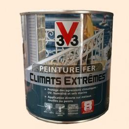"""Peinture Fer V33 """"Climats Extrêmes"""" Blanc calcaire Brillant"""