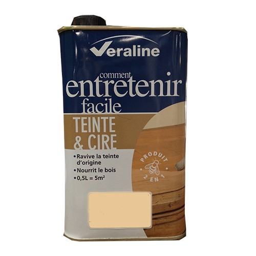 Teinte et cire Veraline Acajou 0.5 L